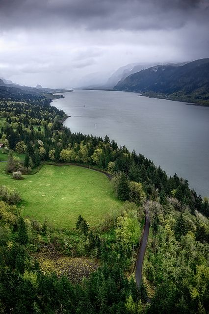 Spring valley, Columbia River Gorge, Washington