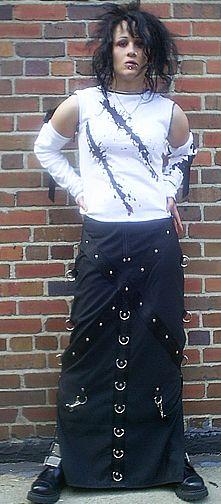 Barbaric Beauty skirt by Sludgefaktory #goth #industrial