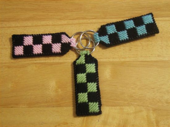 Checker Key chain  Car Accessories by ShanaysCreation on Etsy