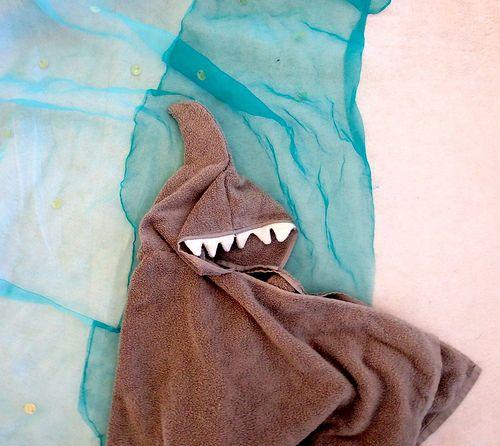 Shark Hoodie Towel