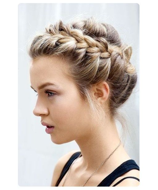 cute braid ...hali come try this with my hair