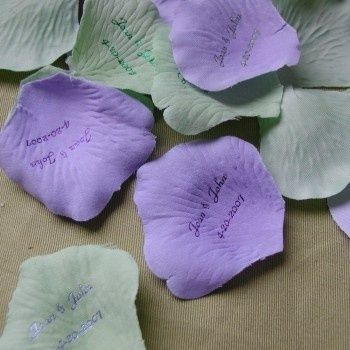 Personalized Rose Petals (you could make these yourself with a #soft skills #self personality #softskills