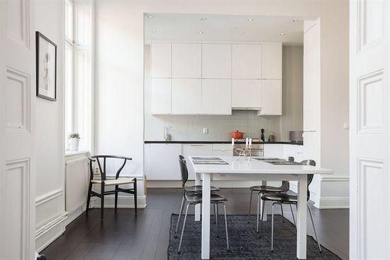 contemporary kitchen interior white