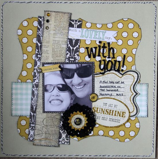 Lovely day With You - Scrapbook.com - Very nice page - really like your layering. #scrapbooking #layout #mymindseye