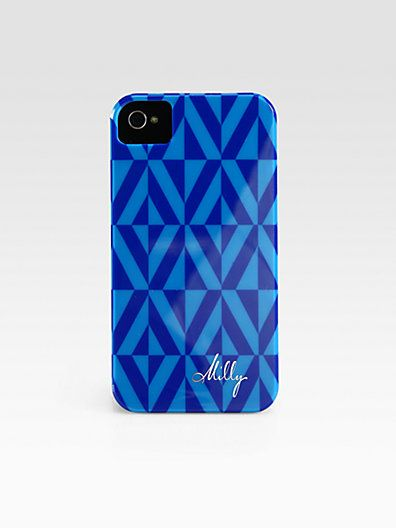 bright blue geometric iphone case