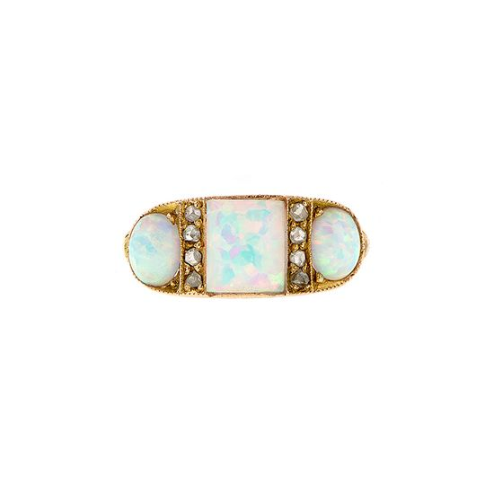 Opal & Diamond ring from Doyle and Doyle. I'm not much for jewelry but I ? this ring.