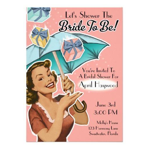 Vintage Style Bridal Shower Party Invitation