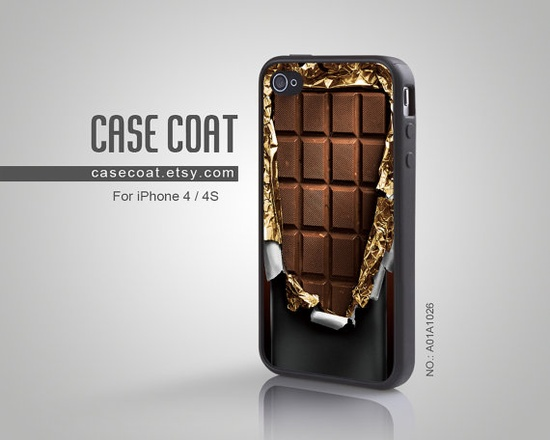 iPhone 4 Case iPhone 4s Case  Chocolate Bar Wrapper by CaseCoat, $10.99