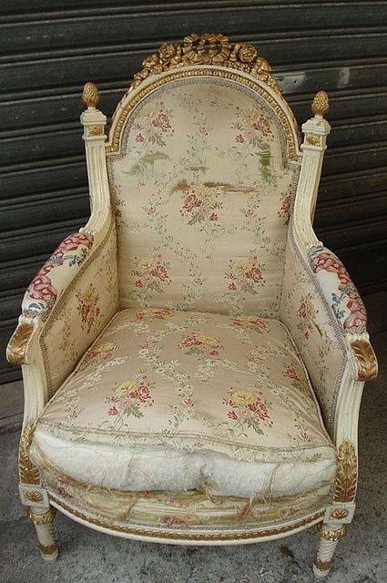 Vintage French Chair - Paris Flea #summer picnic #prepare for picnic #company picnic