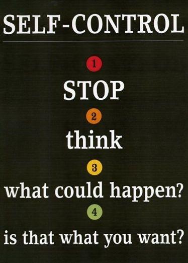 Four steps to self control