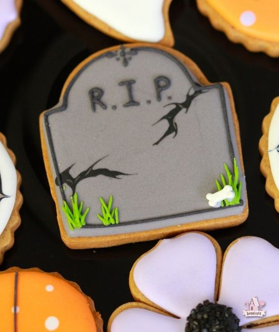 Tombstone Decorated Cookie