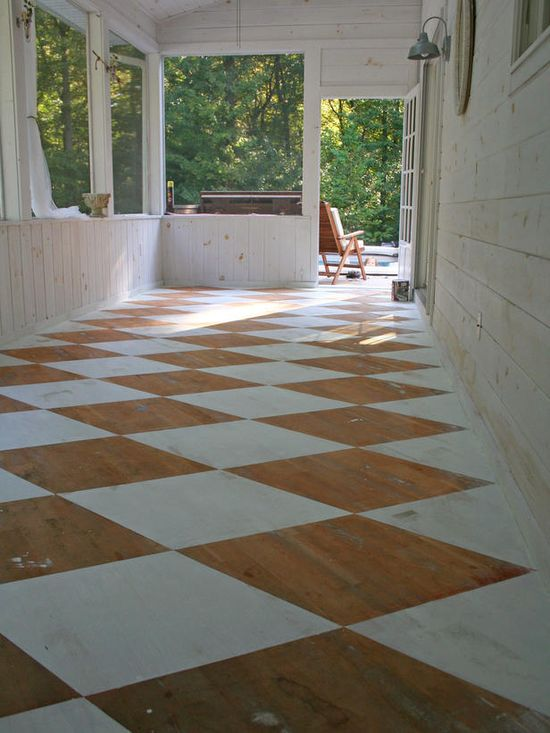 I would LOVE to do this in my 12 x 12 outdoor space! It's currently just subfloor and I don't want to fuss or spend a fortune on flooring.