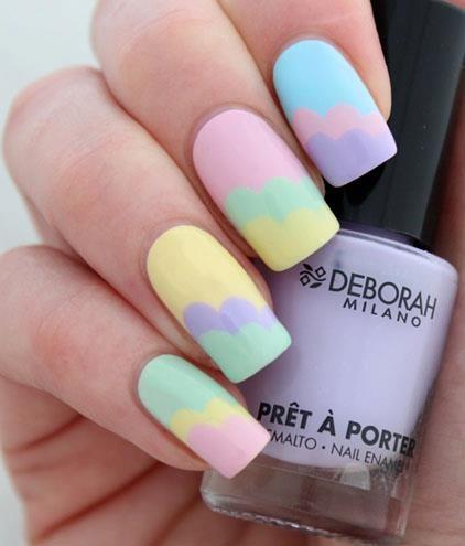 Pastel Clouds #nails #nailart
