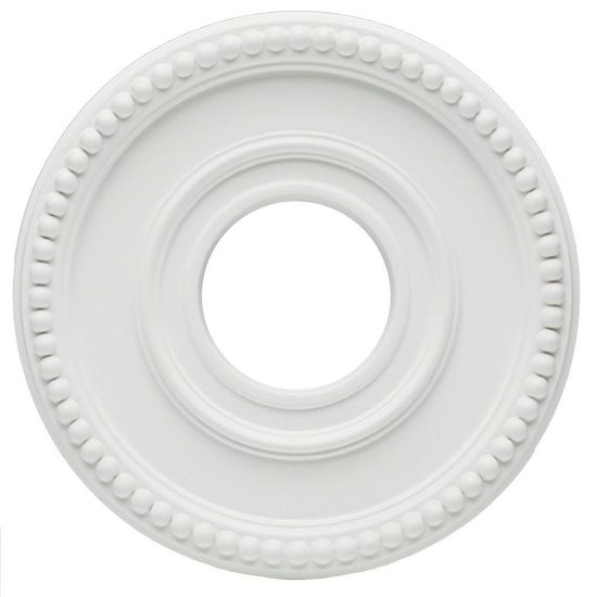 Westinghouse 12-3/8 in. White Finish Colonnade Ceiling Medallion-7776200 at The Home Depot