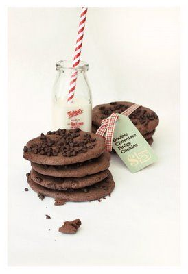 double chocOlate chip double chocolate cookies
