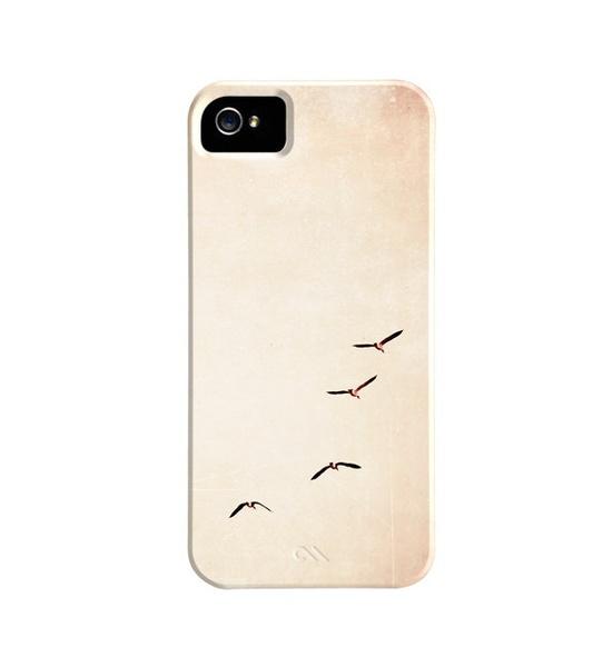 Bird iPhone Case 5, 4s, 4 - birds flying sky iphone 4 case peach beige light cute iphone cases bird fly iphone 5 case bird iphone 4s cover. $45.00, via Etsy.