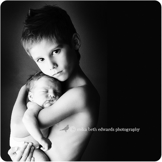 LOVE - Newborn Sibling -  Newborn photography