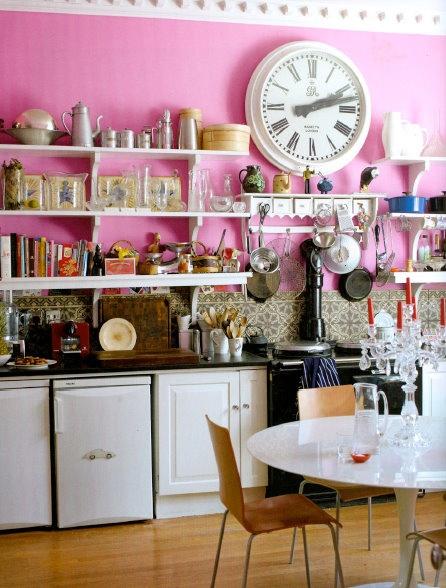 pretty pink kitchen