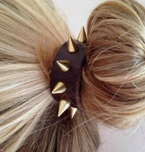 spiked hair accessory