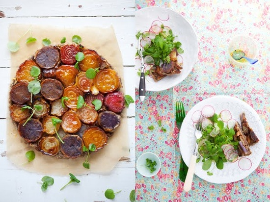 A beetroot tarte tatin and a rainbow of colors :: Cannelle et Vanille