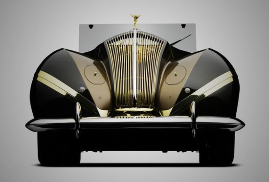 "1939 Rolls-Royce Phantom III ""Vutotal"" Cabriolet by Labourdette (front view)"