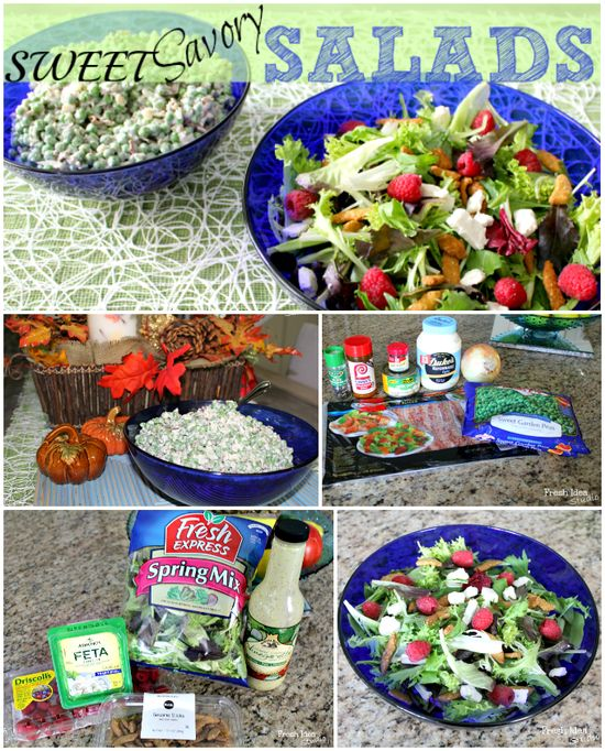 sweet savory salad recipes collage