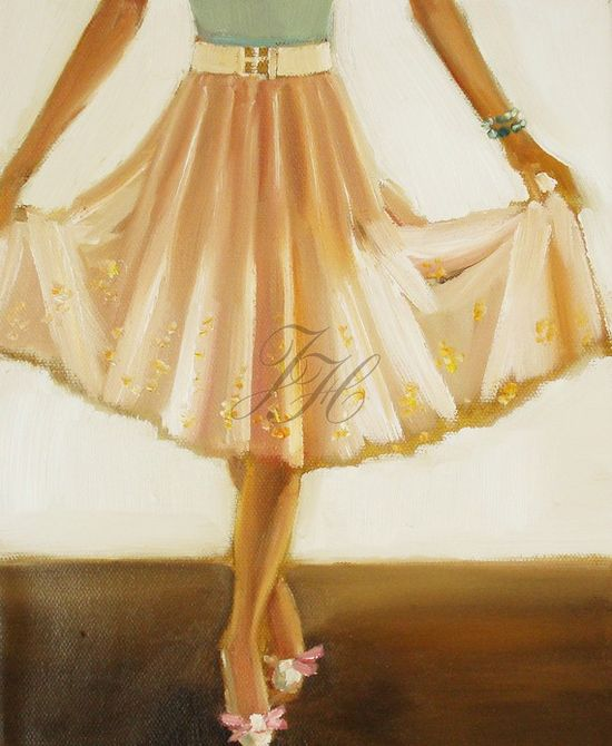 Bows On Her Toes Art Print From Original Oil by janethillstudio, $26.00