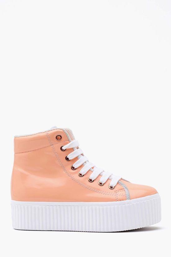 Hiya Platform Sneaker in Peach