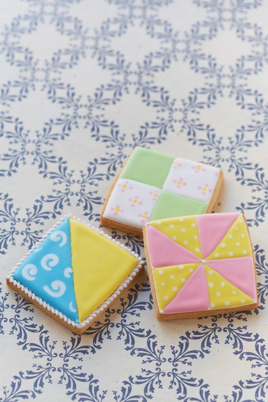 Multi-colored decorated cookies