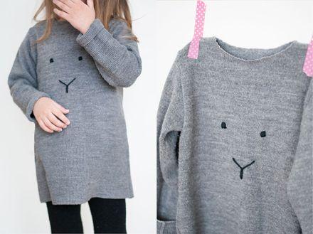 DIY bunny sweater by Pastill.nu