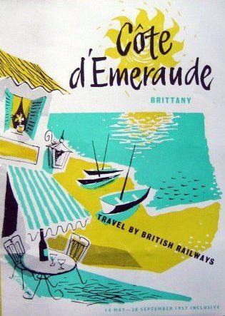 Côte d'Émeraude  * Brittany #travel #poster