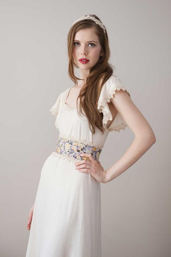Organic Lace Cream Dress 'Angel Dress' by Archella on Etsy