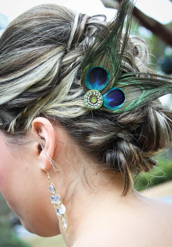 """Bridesmaid hair fascinator"""