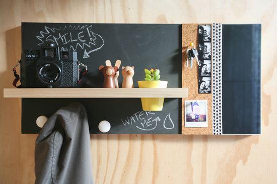 Design DIY: Chalkboard Wall Organizer