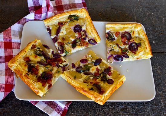 Sweet & Savory Grape Harvest Tart