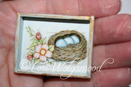 Bird Nest Flower Doll House - Handmade - Hand Painted Miniature - Vintage Nest Designs, Creative Handmade and Hand Painted Designs