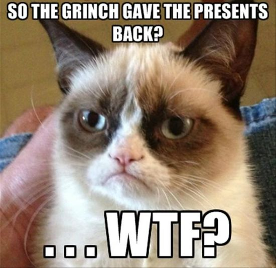 grumpy cat, the grinch store christmas