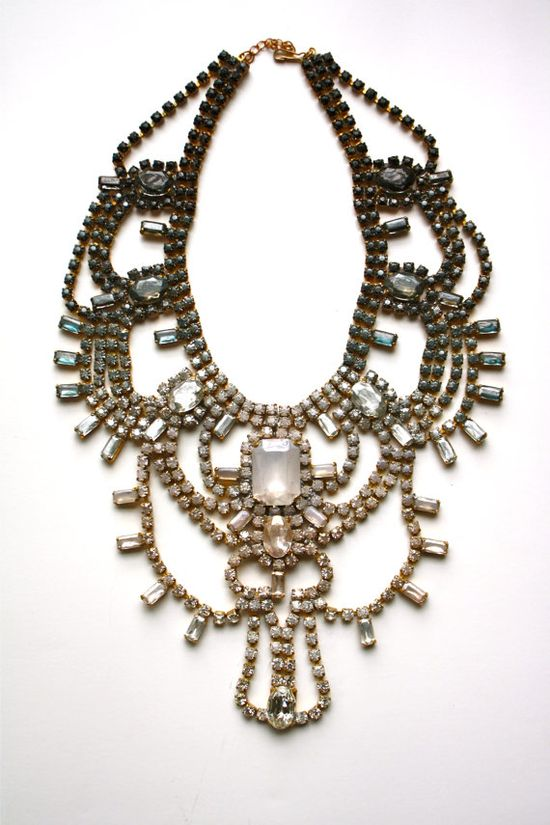 One of a Kind Statement Necklace- Brooklyn. $475.00, via Etsy.