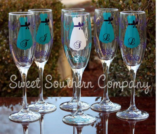 adorable for the bridal party on the wedding day or bridal shower!