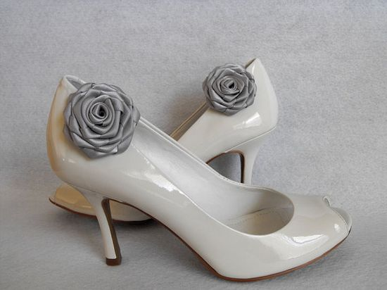 Handmade rose shoe clips