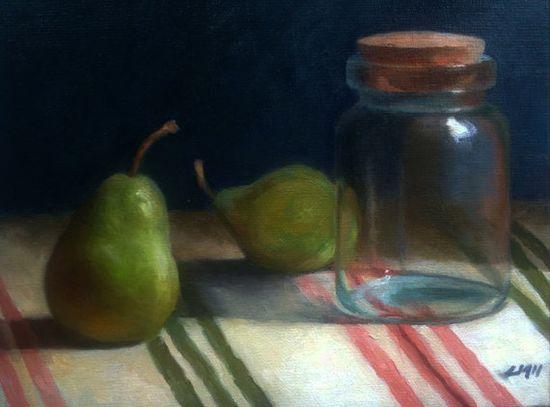 Pears  Oil painting by Livia Mosanu  Original Still by livuska, $225.00