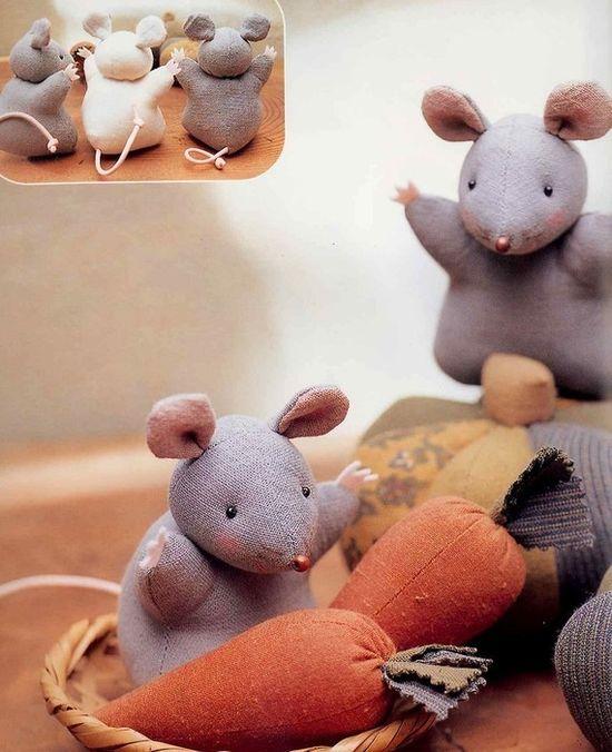Outofprint Cotton and Linen Stuffed Animals 02  by MeMeCraftwork, $55.00