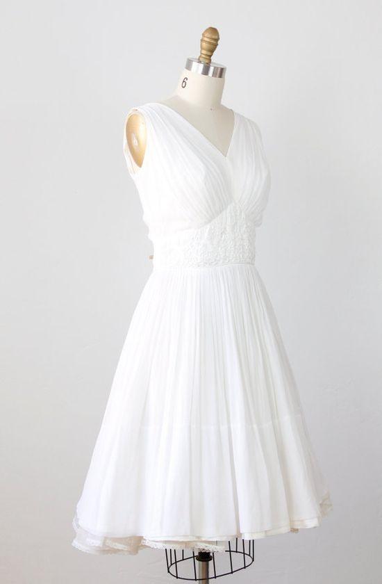 1950s wedding dress /etsy
