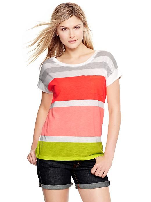 Gap Market Striped T - love these colors!