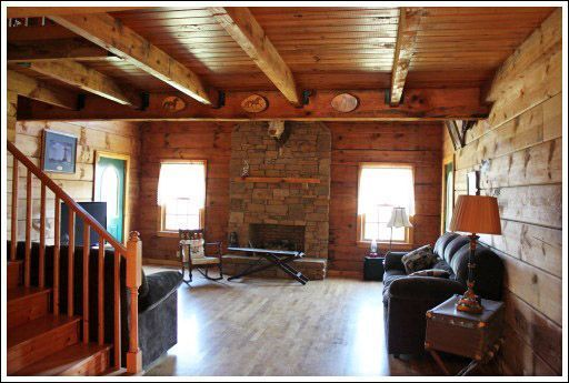 Log Home Decorating - Before and After