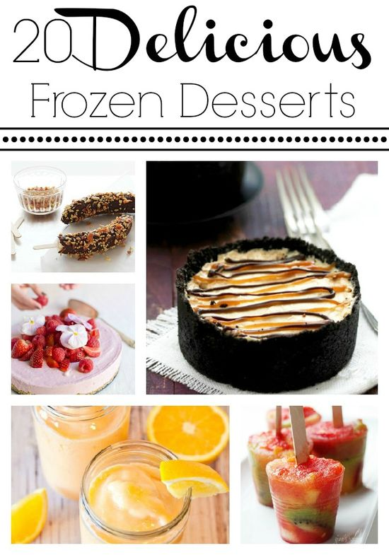 18 delicious Frozen Desserts for summer time