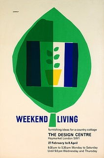 Weekend Living poster by Design Archives, via Flickr #graphics #leaf #green