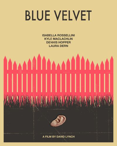 Blue Velvet - love this movie poster!