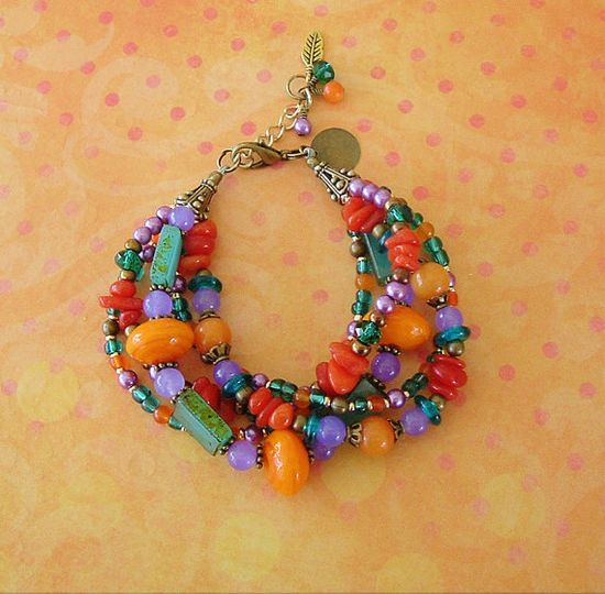Boho Bracelet Southwest Jewelry Colorful Jewelry by BohoStyleMe