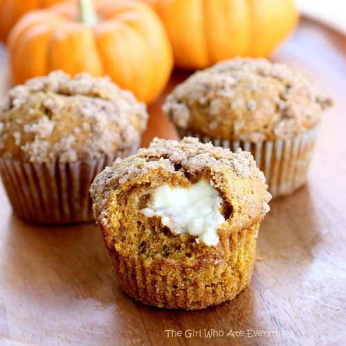 Pumpkin Cream Cheese Muffins~T~ I love these muffins.